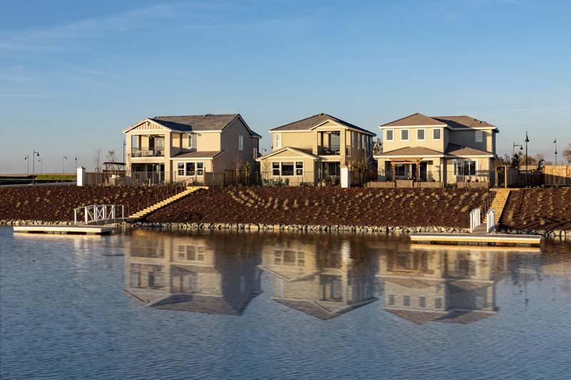 Kiper Homes Lakeside Model Home Waterfront View