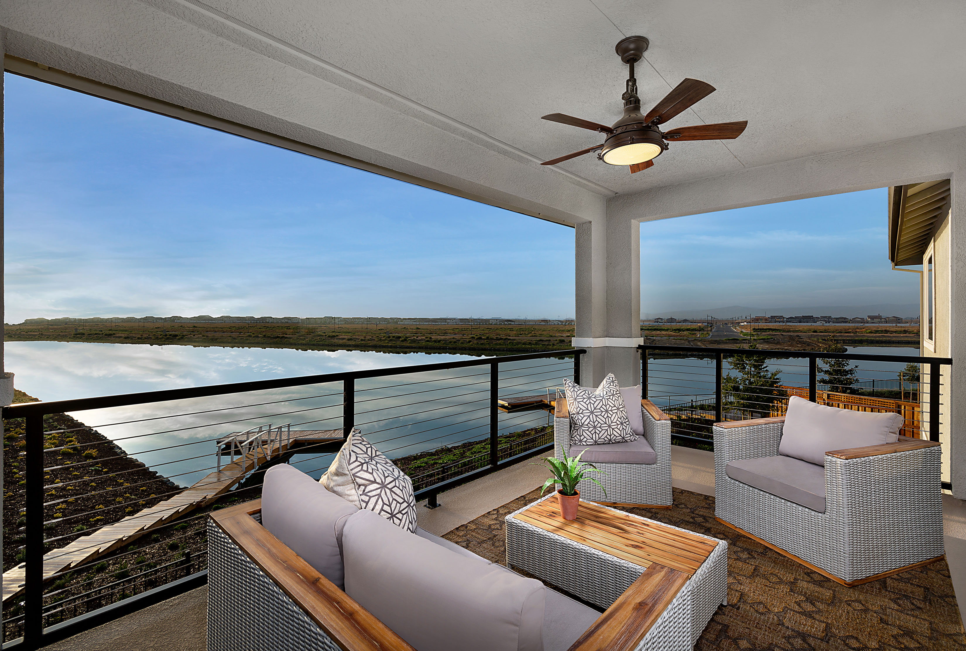 Newport at River Islands Residence 4 Balcony Water View