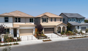 Mayfair at Westfield in Hollister community streetscape perks of presale home
