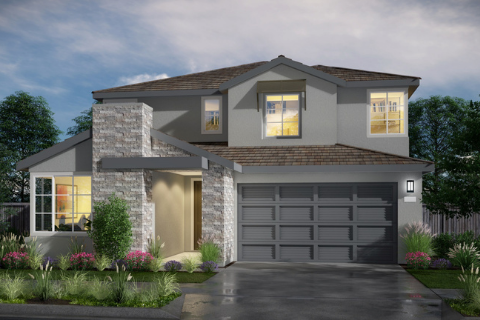 Kiper Homes Plan 2 Front Rendering Balboa at River Islands in Lathrop