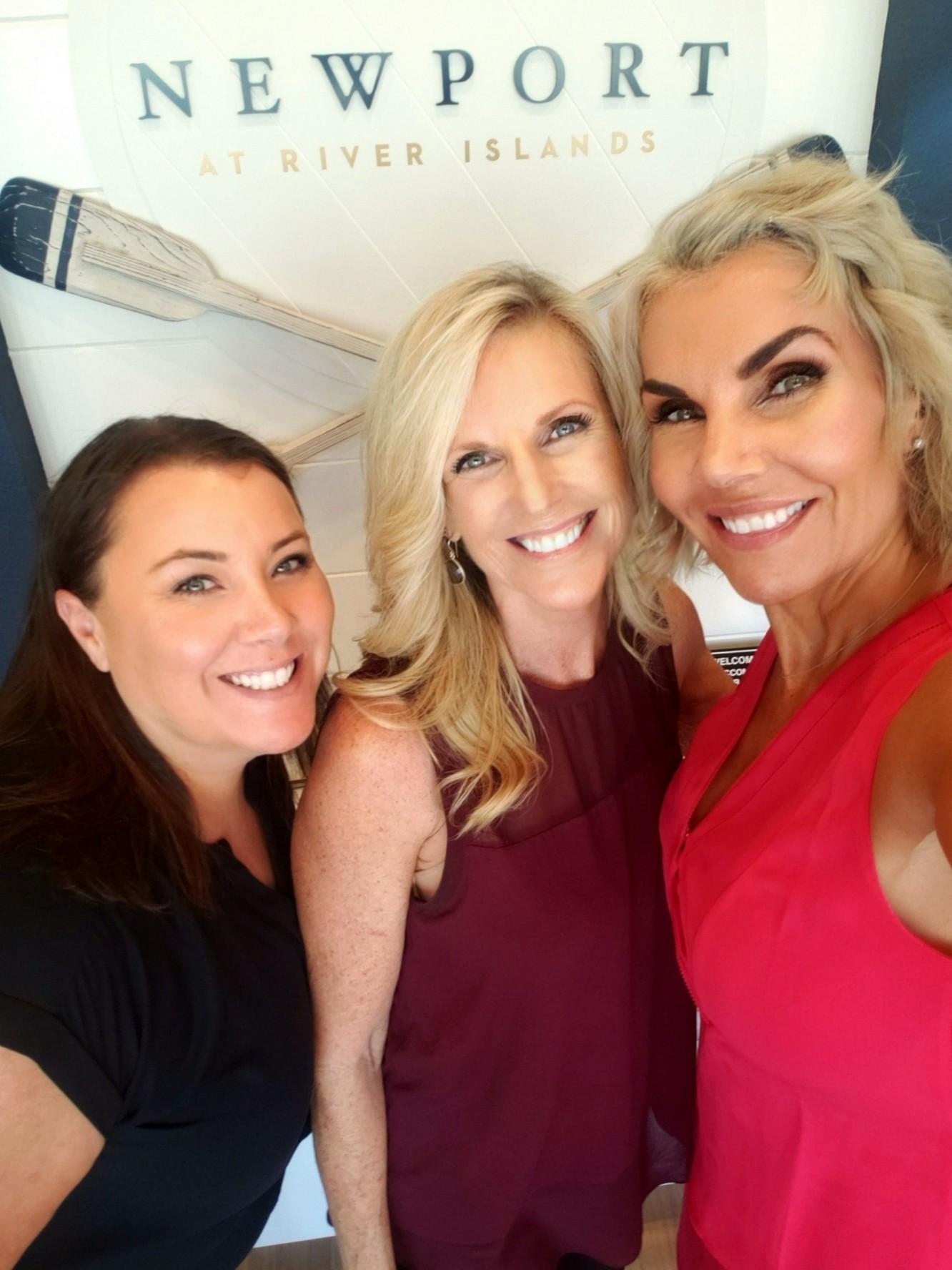 selfie of newport sales team